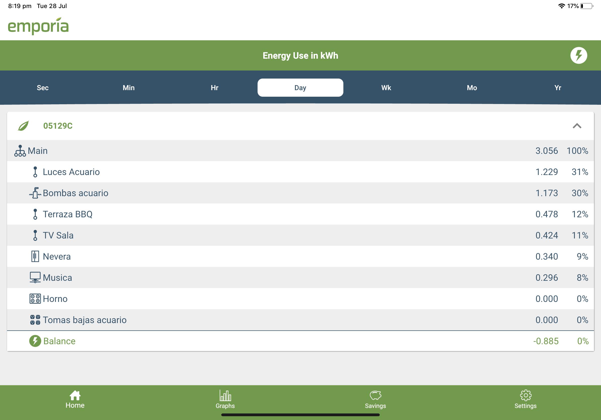 Negative balance in app