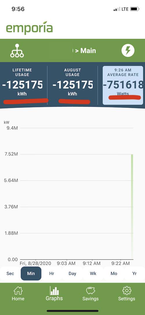 App showing bad data