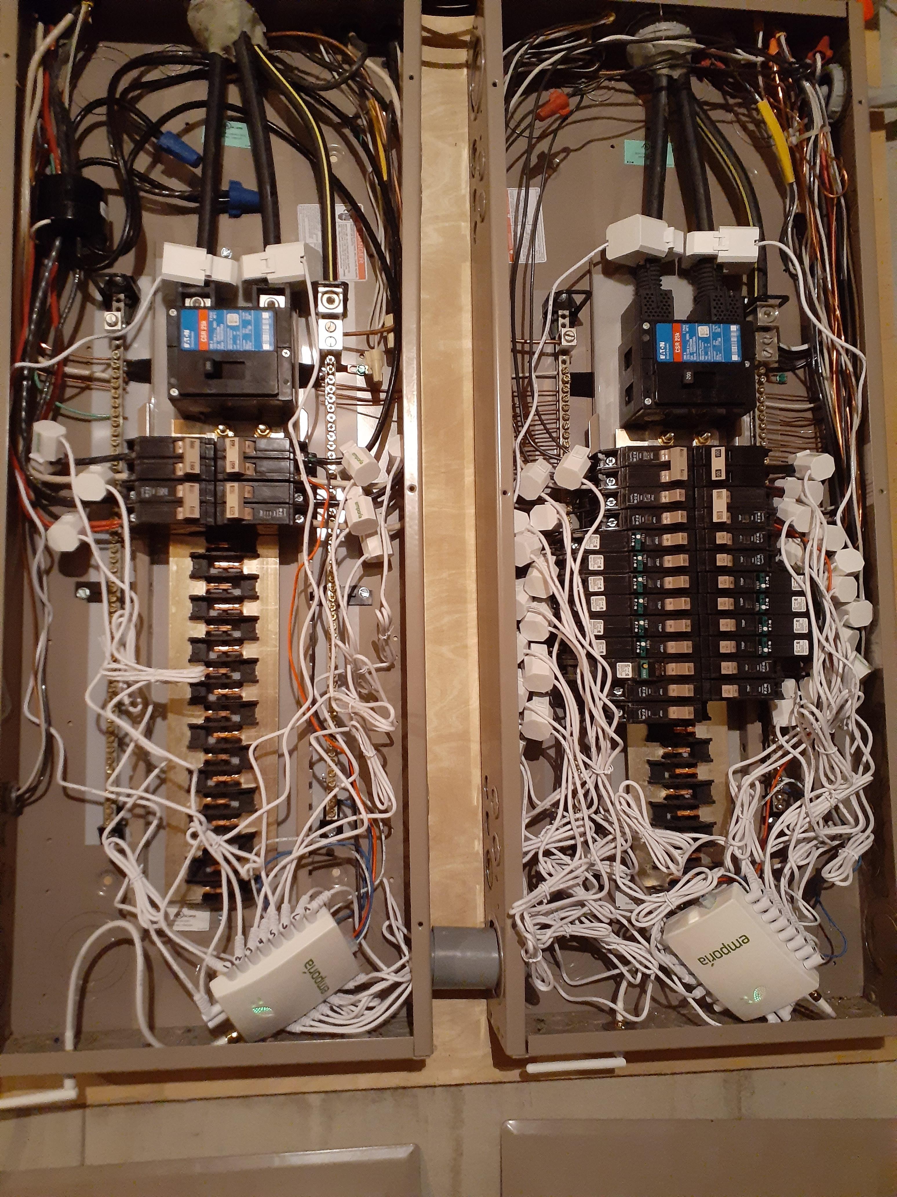 2 vue2s 2 200amp mains & 35 circuits