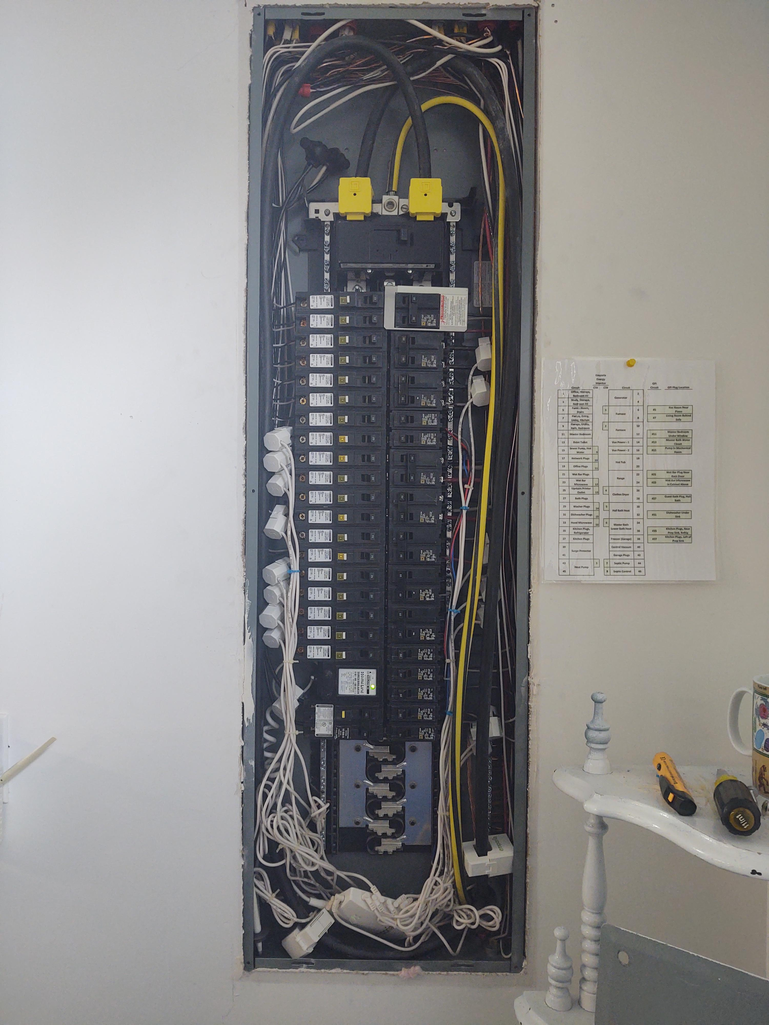 Emporia Vue panel installation